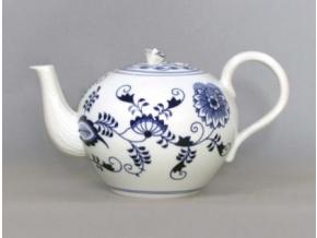 Konev čajová se sítkem  2 l, cibulák, Český porcelán