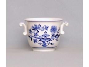 Květináč malý s uchy  10,9 cm, cibulák, Český porcelán