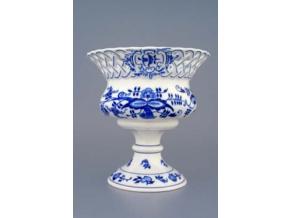Květináč prolamovaný na noze  19,9 cm, cibulák, Český porcelán