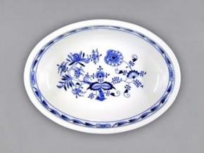 Mísa zapékací oválná malá  6,1 cm, cibulák, Český porcelán