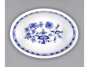 Mísa zapékací oválná střední  7,5 cm, cibulák, Český porcelán