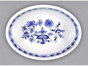 Mísazapékací oválná velká, 32,5 cm, cibulák, Český porcelán
