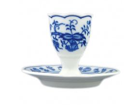 Kalíšek na vejce s podstavcem 7,5 cm, cibulák, Český porcelán