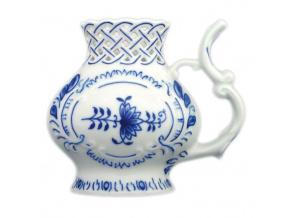 Pohárek lázeňský prolamovaný 12 cm, cibulák, Český porcelán