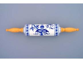 Váleček na nudle s dřevěnou rukojetí  45 cm,  cibulák, Český porcelán