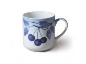 Hrnek s modrými třešněmi, český porcelán, 425 ml, Thun 1794