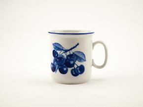 Hrnek Gaston, kobaltové třešně, 0,22 l, Český porcelán