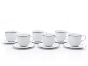 Šálky a podšálky čajové, Opal krajka, 270 ml, Thun, 6 ks
