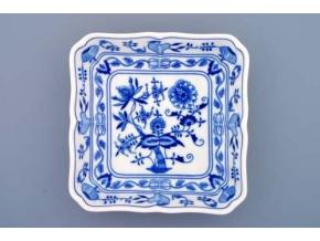Mísa salátová čtyřhranná  21 cm,  cibulák, Český porcelán