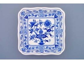 Mísa salátová čtyřhranná  24 cm,  cibulák, Český porcelán