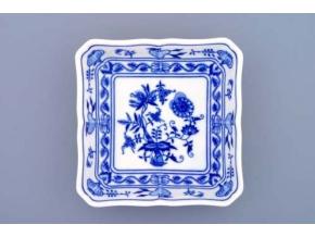 Mísa salátová čtyřhranná  15 cm,  cibulák, Český porcelán