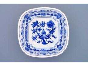 Mísa salátová čtyřhranná ital.  19 cm,  cibulák, Český porcelán