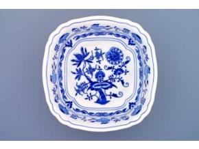 Mísa salátová čtyřhranná ital.  21 cm, cibulák, Český porcelán
