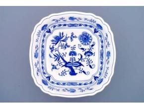 Mísa salátová čtyřhranná ital.  26 cm,  cibulák, Český porcelán