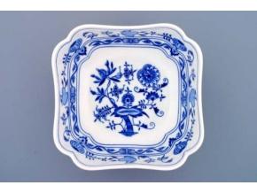 Mísa salátová čtyřhranná vysoká  21 cm,  cibulák, Český porcelán