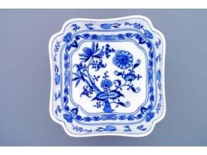 Mísa salátová čtyřhranná vysoká  24 cm,  cibulák, Český porcelán