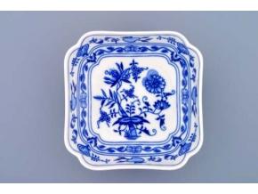 Mísa salátová čtyřhranná vysoká  15 cm,  cibulák, Český porcelán