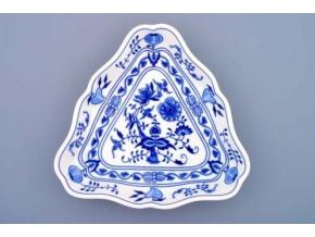 Mísa salátová tříhranná  24 cm,  cibulák, Český porcelán