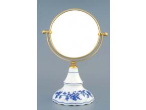 Zrcadlo kulaté otočné ve zlatém rámu  700 g, 2 části,  cibulák, Český porcelán