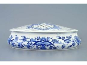 Bonboniéra oválná na 1 kg s víkem  29 cm, cibulák, Český porcelán