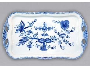 Podnos Aida obdélníkový  45 x 25 cm, cibulák, Český porcelán