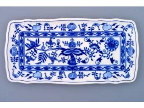 Podnos čtyřhranný  33 x 16 cm, cibulák, Český porcelán