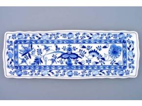 Podnos čtyřhranný  45 x 16 cm, cibulák, Český porcelán