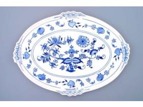 Podnos oválný  42 x 31 cm, cibulák, Český porcelán