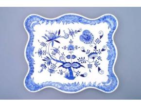 Podnos ozdobný  45 x 37 cm, cibulák, Český porcelán