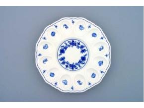 Podnos párty na vejce  24,3 cm, cibulák, Český porcelán