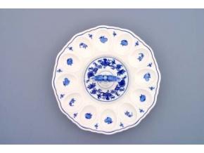 Podnos párty na vejce s porcelánovým klíčem 24,3 cm, cibulák, Český porcelán