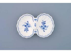 Slánka dvoudílná s úchytkou  12 cm, cibulák, Český porcelán