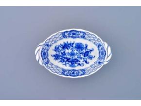 Košík prolamovaný  11 cm, cibulák, Český porcelán