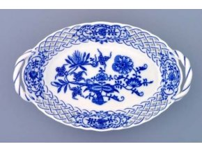 Košík prolamovaný  18,5 cm, cibulák, Český porcelán