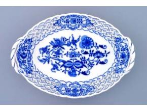 Košík prolamovaný  21 cm, cibulák, Český porcelán