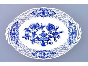 Košík prolamovaný  24 cm, cibulák, Český porcelán