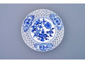 Talíř prolamovaný  18 cm, cibulák, Český porcelán