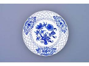 Talíř reliéfní  15 cm, cibulák, Český porcelán