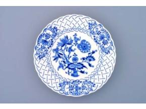 Talíř reliéfní  18 cm, cibulák, Český porcelán