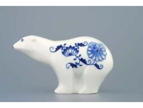 Medvídek 15 cm, cibulák, Český porcelán