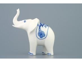 Slon I - jednoduchá dekorace 12 cm, cibulák, Český porcelán