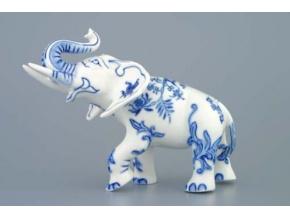 Slon II - bohatá dekorace 18 cm, cibulák, Český porcelán