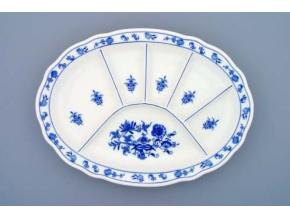 Talíř dělený 34,8 x 25 cm, cibulák, Český porcelán