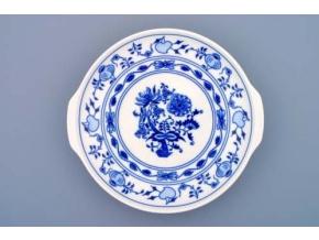 Talíř kupový s uchy 24,6 cm, cibulák, Český porcelán