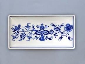 Talíř na ryby obdelníkový 24,7 x 12,7 cm, cibulák, Český porcelán