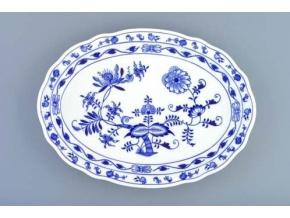 Talíř oválný 35 cm, cibulák, Český porcelán