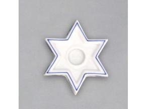 Svícen hvězda 85 g, cibulák, Český porcelán