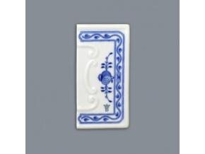 Číslo na dům - rámeček reliéfní / se spodní značkou, 110 x 55 mm, cibulák, Český porcelán