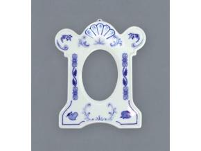 Rámeček na fotografii/rozměr 9x7 cm, 169 x 143 mm, cibulák, Český porcelán