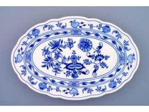 Mísa oválná, 35 cm, cibulák, Český porcelán